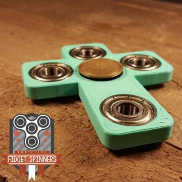 EDC   Spinner Cross Fidget Toy With Caps