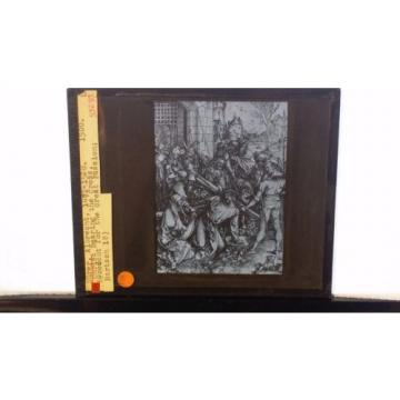 "Albrecht   Dürer: ""Christ Bearing the Cross"", Woodcut, Magic Lantern Glass Slide"