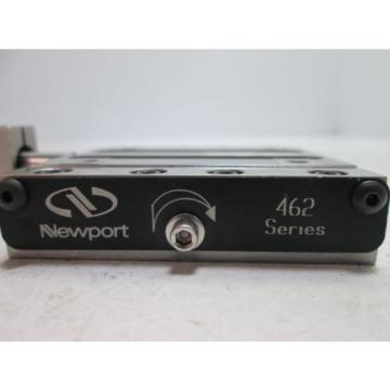 """Newport   462 Crossed-Roller Bearing Linear Stage, With 0-1"""" Starrett Micrometer"""