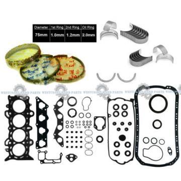 01-05   HONDA Civic 1.7L D17A1 D17A2 16V ENGINE FULL SET RINGS MAIN ROD BEARINGS