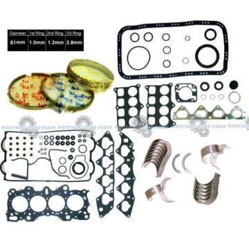 90-01   Acura Integra B18A1 B18B1 Full Gaskets AFTERMARKET Rings Main Rod Bearings