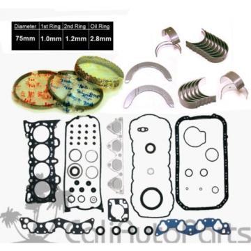 96-00   Honda Civic Del Sol 1.6L D16Y7 D16Y8 METAL Gaskets Rings Main Rod Bearings
