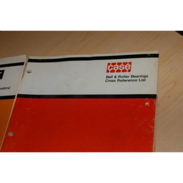 CASE   BALL ROLLER BEARING Spare Parts CROSS REFERENCE Manual book catalog skf mrc