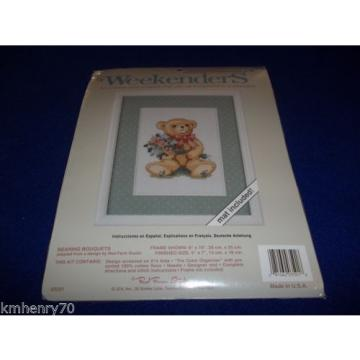 Weekenders   Bearing Bouquets Countless Cross Stitch Mat Included