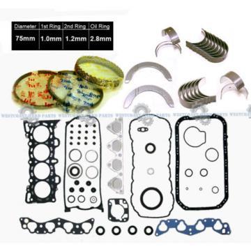 88-91   Honda Civic Si CRX Si 1.6L D16A6 FULL SET + RINGS MAIN ROD ENGINE BEARINGS