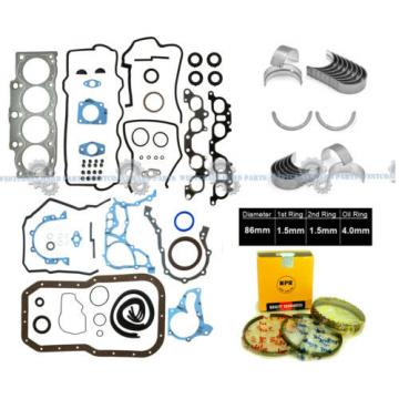 98-00 TOYOTA RAV4 2.0L 3SFE 16V DOHC FULL SET NPR RINGS MAIN ROD BEARINGS