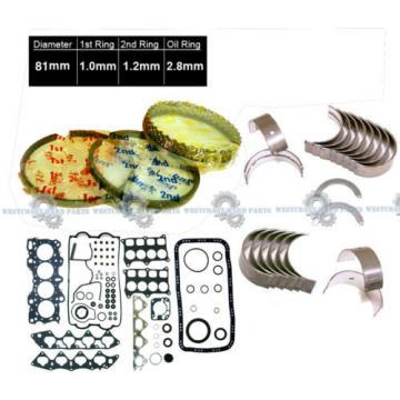 94-97 Honda Del Sol 1.6L VTec B16A3 DOHC FULL GASKET SET RINGS MAIN ROD BEARINGS