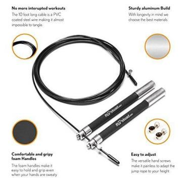 Skipping   Rope Ideal for Cross Training - Features Ball-bearing System and 6