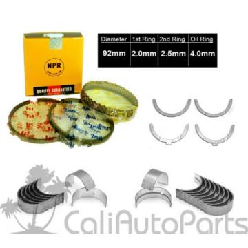81-82 TOYOTA CELICA PICKUP 2.4L 22R SOHC NPR PISTON RINGS + ENGINE BEARINGS SET
