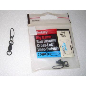 BERKLEY MOSCHETTONI BALL BEARING CROSS-LOK SNAP SWIVEL SUPER STRONG