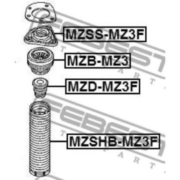 Front Shock Absorber Bearing For Volvo V40 Cross Country (2013-Now)