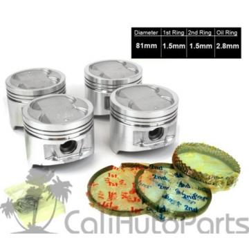 88-89   Toyota Corolla GTS MR2 1.6 DOHC 4AGEC Pistons with Rings & Engine Bearings