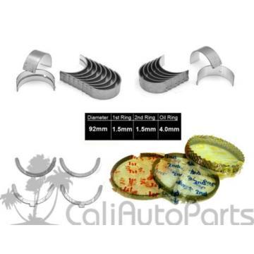 FITS:   85-95 TOYOTA 4RUNNER 2.4L 22RE 22REC SOHC 8V PISTON RINGS ENGINE BEARINGS