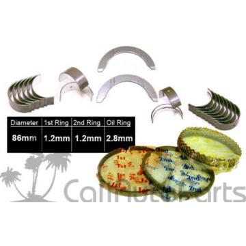 98-99 Isuzu Oasis 2.3L F23A7 STANDARD PISTON RINGS + MAIN ROD ENGINE BEARINGS