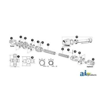 180016228   Cross & Bearing Kit Fits Comer V Series: Type 60 CV
