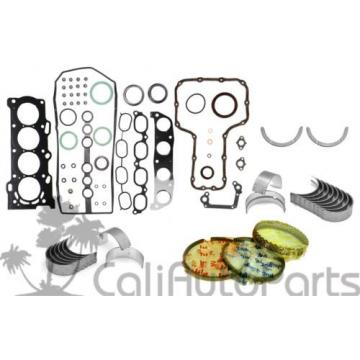 98-99 Toyota Corolla Chevy Prizm 1.8L 1ZZFE DOHC FULL SET RINGS ENGINE BEARINGS
