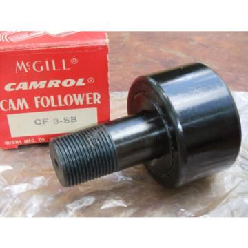 "McGill Camrol CF 3 SB Cam Follower CF3SB 3"" Bearing 1-1/4"" Stud NOS Unused"