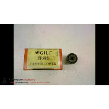 "MCGILL CF 5/8 S CAM FOLLOWER 5/8"" ROLLER DIAMETER 1/4"" STUD DIAMETER, NE #154085"