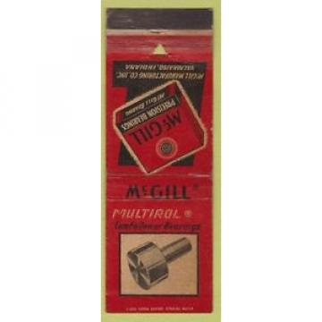 Matchbook Cover - McGill Bearings Valparaiso IN