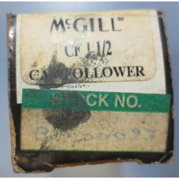 McGill Cam Follower Bearing Model CF 1 1/2 CF-1-1/2 NIB