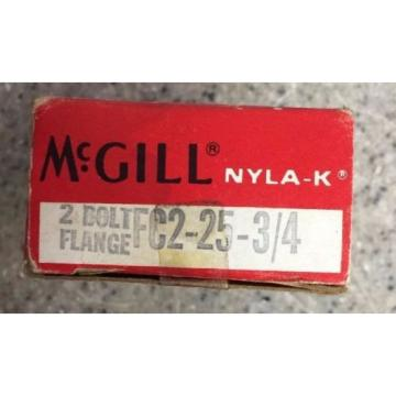 McGill NYLA-K Mounted Ball Bearings FC2-25 3/4' Flange Mounted Bearing Convey