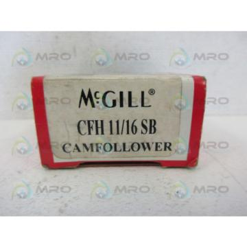 MCGILL CFH-11/16-SB CAM FOLLOWER BEARING *NEW IN BOX*