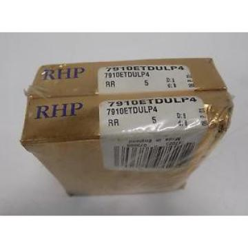 RHP Industrial Plain Bearings Distributor LM287849D/LM287810/LM287810D Four row tapered roller ANGULAR CONTACT BALL BEARING LOT OF 2  7910ETDULP4 NIB