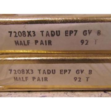 RHP Industrial Plain Bearings Distributor EE749259D/749334/749335D Four row tapered roller bearings 7208X3 TADU EP7 GV B 92T Super Precision Bearing x2
