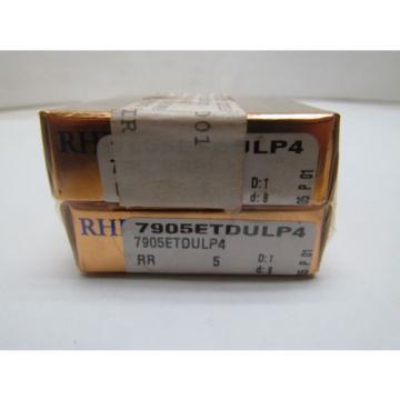 RHP Industrial Plain Bearings Distributor 500TQO710-1 Four row tapered roller bearings 7905ETDUMP4 7905ET DUM P4 Super Precision Bearings Set of 2