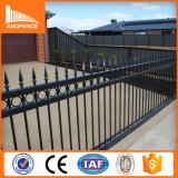 galvanized steel garden fence/40*40 rail black color steel fence