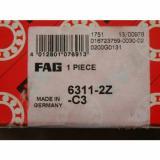 New FAG 6311-2Z-C3 NIB