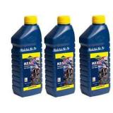 3 X 1 LITRE PUTOLINE MX5 TWO STROKE OIL synthetic  LITRE pre mix & injector