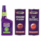 WYNNS 3 PACK PETROL INJECTOR CLEANER + ENGINE FLUSH ADDITIVE + OIL TREATMENT