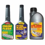 3 Pack ENGINE FLUSH + PETROL INJECTOR CLEANER + EXHAUST STOP SMOKE OIL TREATMENT