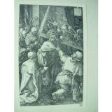 ALBRECHT   DURER VINTAGE COPPER ENGRAVING BEARING OF THE CROSS - PASSION No 10