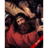 THE   LORD JESUS CHRIST BEARING CROSS PAINTING CHRISTIAN BIBLE ART CANVAS PRINT
