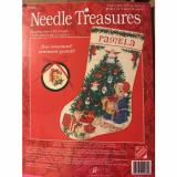 Needle   treasures - Bearing Gifts Stocking 02980 NEW Counted Cross Stitch Kit