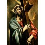 Art   Print - Christ Bearing Cross - El Greco 1541 1614