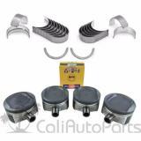 01-06   TOYOTA CAMRY SOLARA 2AZFE 2.4L PISTONS + RINGS + MAIN ROD ENGINE BEARINGS