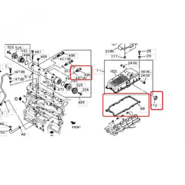 Holden Jackaroo 4JX1 Diesel 3L Oil Rail Pressure Sensor, Injector Harness &Seals #3 image