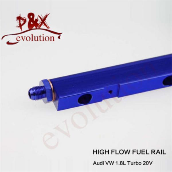 Aluminum High Flow Injector Fuel Oil Rail kit for Audi VW 1.8L Turbo 20V blue #5 image