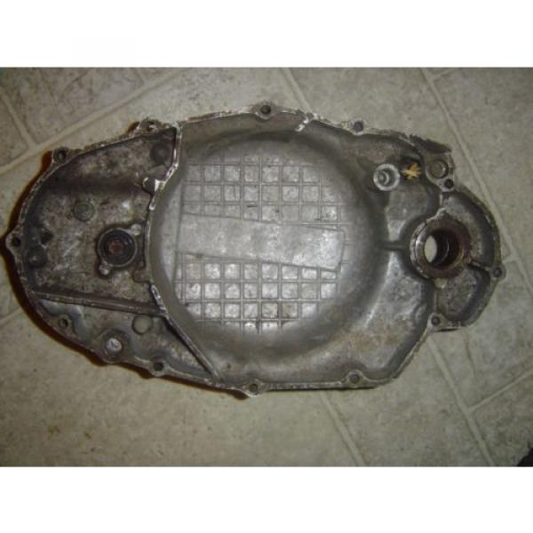 1974 YAMAHA DT250 CLUTCH COVER WITH OIL INJECTOR PUMP #2 image