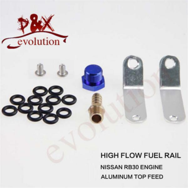 For Nissan RB30DET RB30 Turbo Charger Motor Fuel Injector Injecter Oil Rail gray #5 image