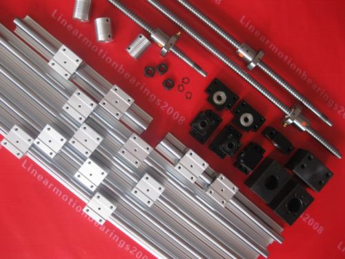 6 JM822049/JM822010  linear bearing Rails 3 ballscrews balls screws 3 bearing mounts +3 couplings After-sales Maintenance