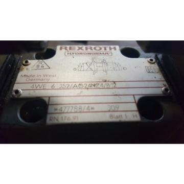 Rexroth Directional Control Valve, 4WE 6 J52/AG24NZ4/B12, Used, Warranty