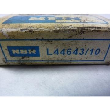 "NBR L44643/10 Tapered Roller Bearing 1"" Bore"