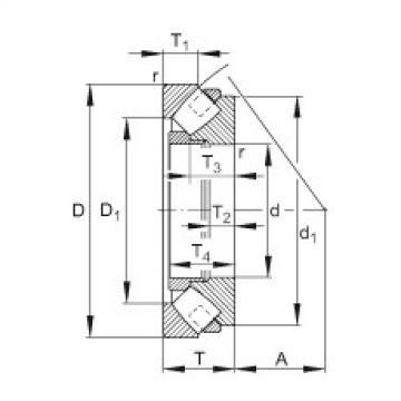 FAG Germany Axial spherical roller bearings - 293/1250-E1-MB