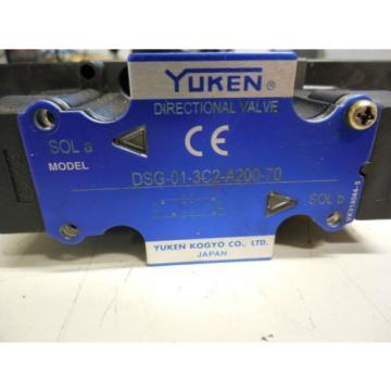 YUKEN DIRECTIONAL VALVE DSG-01-3C2-A200-70  DSG013C2A20070 VK318044-5 VK3180445