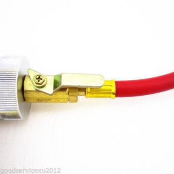 Aluminum&Plastic R134a R12 R22 Car Liquid Oil Cylinder injector Filler Tube Tool