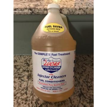 Lucas Oil 10013 Fuel Treatment Upper Cyl Lube Injector Cleaner 1 Gallon Each
